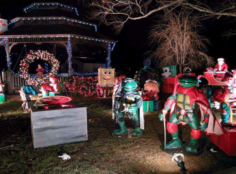 The Ninja Turtles in the Camuso Family Christmas Lights